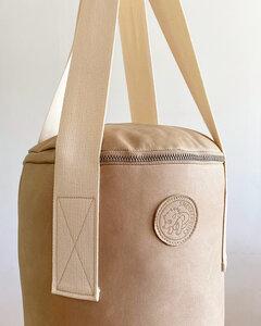 Handgearbeiteter Boxsack aus Leder - Snekkerbuks