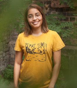 Fuchs & Hase - Frauen T-Shirt - Fair gehandelt aus Baumwolle Bio - Slub - päfjes