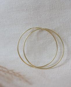 pikfine vergoldete Creolen // 57 mm - pikfine
