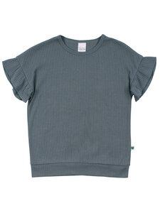 Kinder T-Shirt mit Rüschenarm - Fred's World by Green Cotton