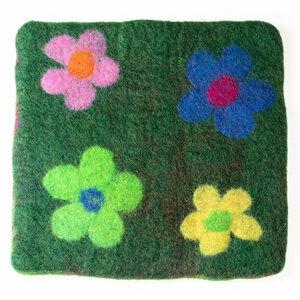 Filzkissen/Sitzkissen 'Blume' - Bunt - Frida Feeling