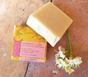 Shampoo Cube / festes Shampoo Honig & Kastanienblüte - normales / fettiges Haar - Küstenseifen Manufaktur
