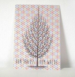 Postkarte Tanne - ava&yves