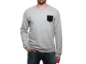 Pocket Pullover Grey | Bio Fair - milch Basics