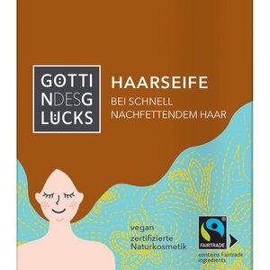 Göttin des Glücks Haarseife bei schnell nachfettendem Haar mit Kokosnussöl - Göttin des Glücks