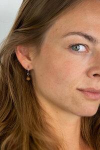 Ohrring mit Holzelement 'DROP EARRING' - Kerbholz