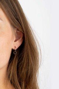 Ohrring mit Holzelement 'DONUT EARRING' - Kerbholz
