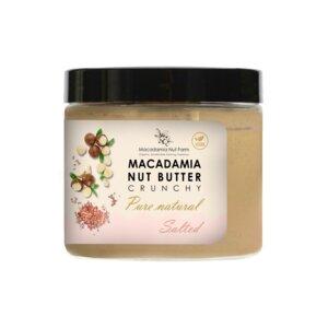 MACADAMIA NUSSCREME KNUSPRIG / NATÜRLICH / gesalzen, 180 g - Macadamia Nut Farm