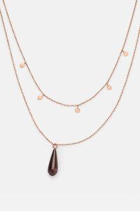 Halskette mit Holzelement 'DROP DOUBLE NECKLACE' - Kerbholz