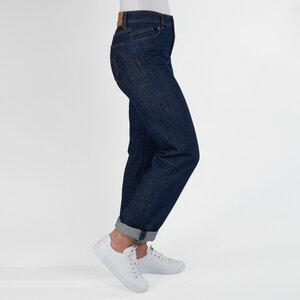 Damenjeans CLASSIC, gerades Bein, hoher Bund, in Farben NAVY und WAVES - fairjeans