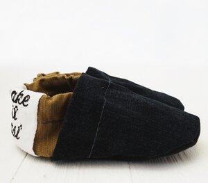 Kitapuschen / Babypuschen / Hausschuhe aus Baumwolle, upcycling + low waste - make it last
