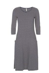 Ellen Stripe Dress - Navy - People Tree