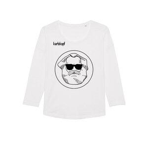 LOGO - Damen Langarmshirt aus Bio-Baumwolle von karlskopf - karlskopf
