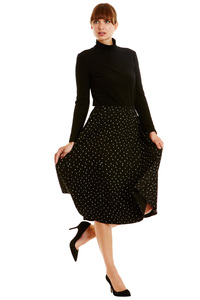 Delia Dot Skirt - Black - People Tree