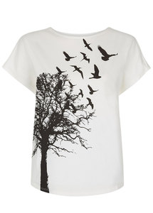 Tree Print Tee - Eco White - People Tree