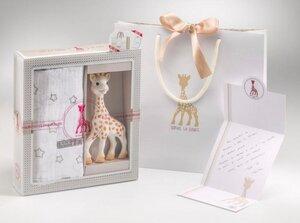 BIRTH SET MEDIUM NO. 2 - 100% NATURKAUTSCHUK Sophie la Giraffe + Soft-Mulltuch - Vulli