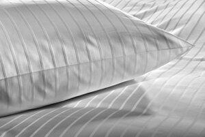 Streifensatin Bettwäsche, weiß, Einzelgrößen - Dibella good textiles