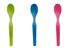 3er Set Babylöffel ergonomisches Design knallige Farben - ajaa
