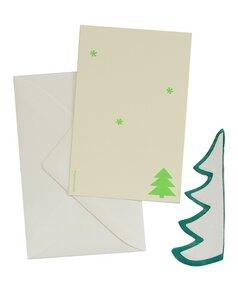 Weihnachtskarte mit Tannenbaum - grün - ENGEL.