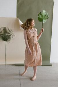 Kleid aus Leinen und Baumwolle - frankie & lou organic wear