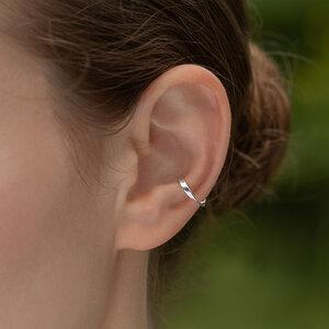 Ohrringe von Nella Ear Cuffs LUISE aus Silber oder Gold - Nella Earcuffs®