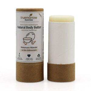 Natural Body Butter - Natürliche Hautpflege in Papierhülse - truemorrow