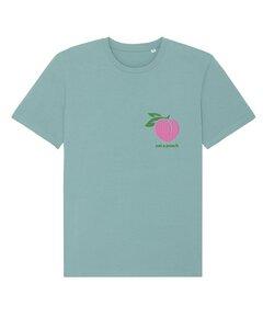 """Unisex T-Shirt aus Bio-Baumwolle """"Eat a Peach"""" Stickerei - Bretter&Stoff"""