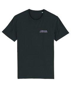 """Unisex T-Shirt aus Bio-Baumwolle """"Entertained"""" Stickerei - Bretter&Stoff"""