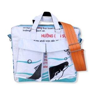 Schultertasche mit Hochseehafengurt Ri84 recycelter Reissack - Beadbags