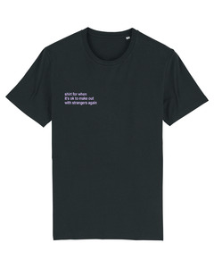 """Unisex T-Shirt aus Bio-Baumwolle """"Make Out"""" Stickerei - Bretter&Stoff"""