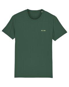 """Unisex T-Shirt aus Bio-Baumwolle """"Ok Ciao"""" Stickerei - Bretter&Stoff"""