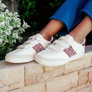 Sneaker Saigon Velcro - Da Lat - Red Burgundy - N'go Shoes