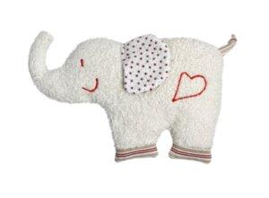 Spiel und Kuschelelefant, mittel (KbA) - Efie