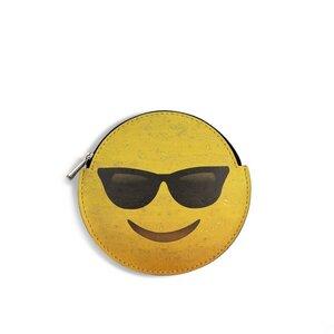 Kork Mini Geldbeutel Portemonnaie Tasche rund - Emoji - Artipel ©