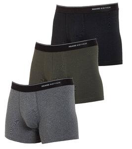 Herren Pants 3er Pack ohne Eingriff, Single Jersey, - Haasis Bodywear