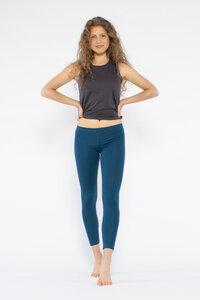 Yoga Leggings aus Bio-Baumwolle mit langem Bein - YOIQI