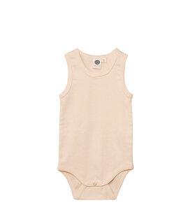 Baby Body Ärmellos/Unisex/Beige/100% Organische Baumwolle - Caico Cotton