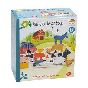 Stapelspiele aus Gummibaumholz, verschiedene Sets - Tender Leaf Toys