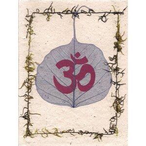 Briefkarte Bodhiblatt - Just Be