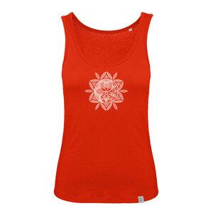 YinYang Sonne - Siebdruck Tank-Top B&C fire red - Sacred Designs