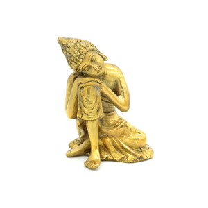 Thinking Buddha Figur 16 cm, - Just Be