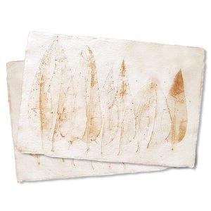 """Tischsets """"Imprint"""" aus handgeschöpftem Recycling Baumwollpapier, Natur - Sundara"""