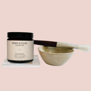 Gesichtspflege Set mit Gesichtsmaske, Pinsel & Bowl - Koko & Clay