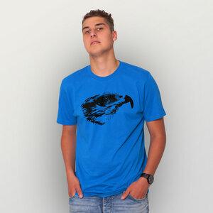 """Falke"" Männer T-Shirt reine Biobaumwolle (kbA) - HANDGEDRUCKT"