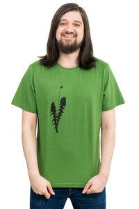 """Fair-Trade-Männershirt """"Löwenzahn"""" - Made in Kenia - grasgrün - Hirschkind"""