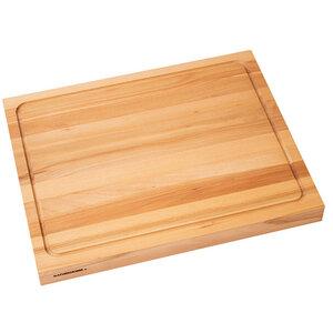 Schneidebrett Holz zweiseitig verwendbar ca. 50x40 cm - NATUREHOME