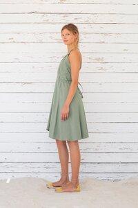 Multiposition Dress Baumwolle/Leinen short - grey mist - Suite 13