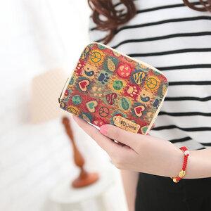 Mini Peacie - Vegane platzsparende Geldbörse mit RFID-Schutz für Damen - Veggees