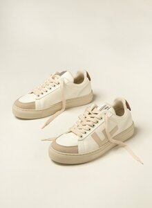 Sneaker Damen Vegan - CLASSIC 70's Kicks - White Brown Grey - Flamingos' Life