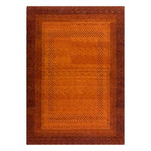 """Handgefertigter Teppich """"Sunrise"""" aus Wolle in Rot-Orange - versch. Größen - Prolana"""